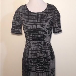 Calvin Klein Black and Grey Career Sheath Dress 8